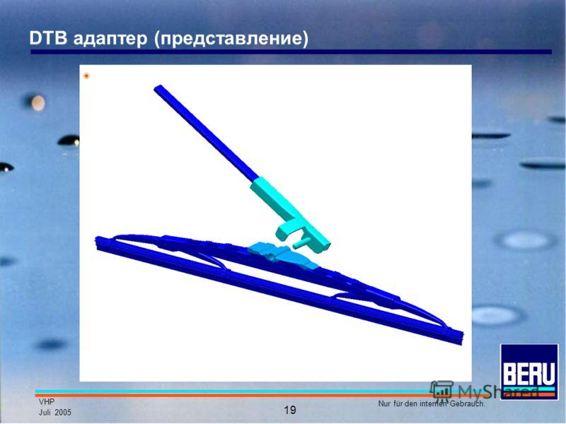 VHP Juli 2005 Nur für den internen Gebrauch. 19 DTB адаптер (представление)