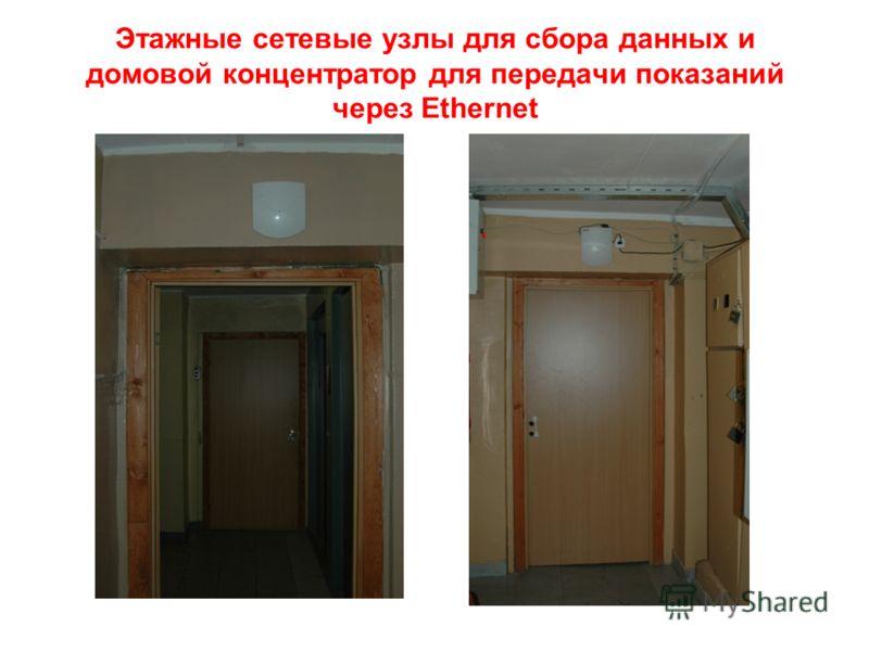 Этажные сетевые узлы для сбора данных и домовой концентратор для передачи показаний через Ethernet