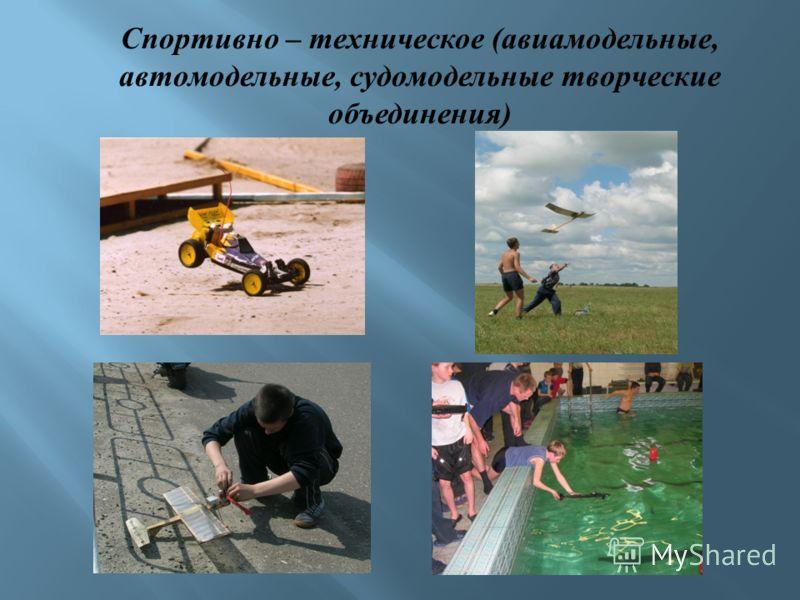 Спортивно – техническое (авиамодельные, автомодельные, судомодельные творческие объединения)