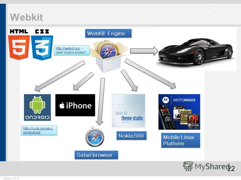 22 January 2012 Webkit