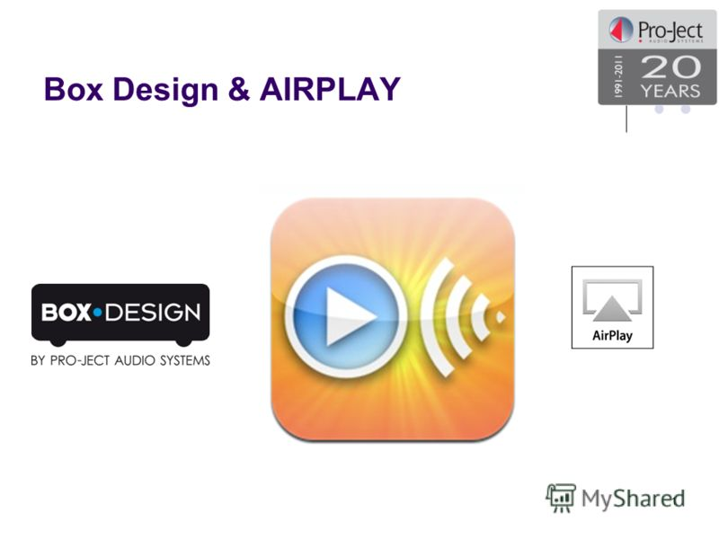 Box Design & AIRPLAY 1