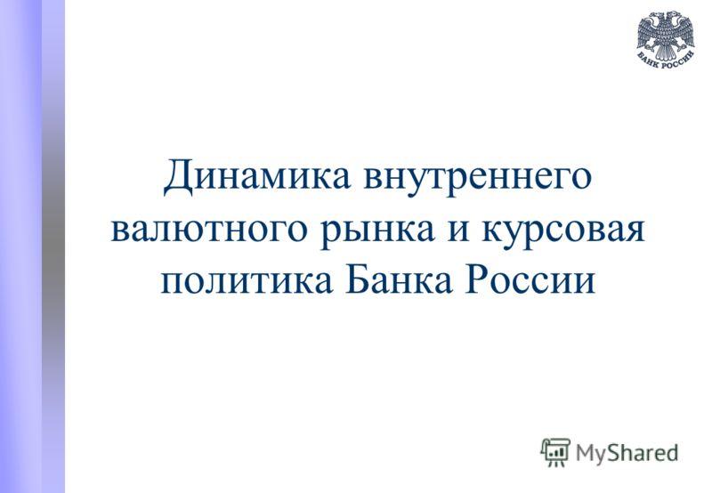 Динамика внутреннего валютного рынка и курсовая политика Банка России