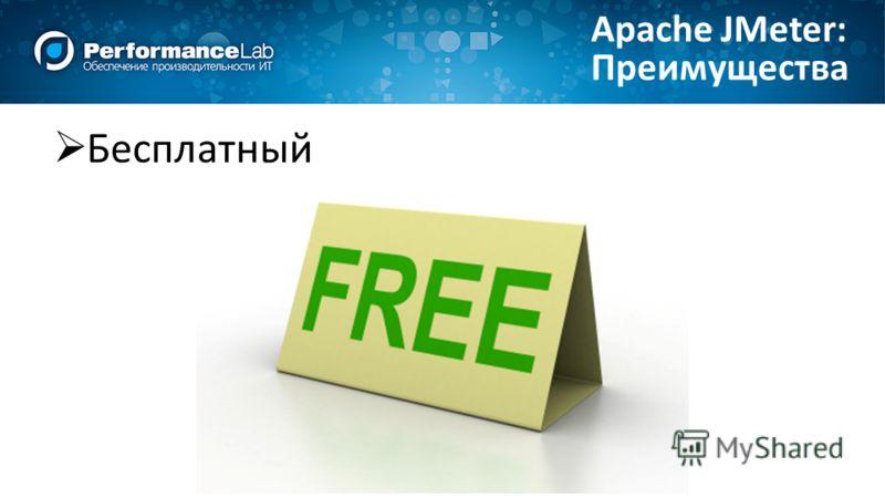 Бесплатный Преимущества Apache JMeter: