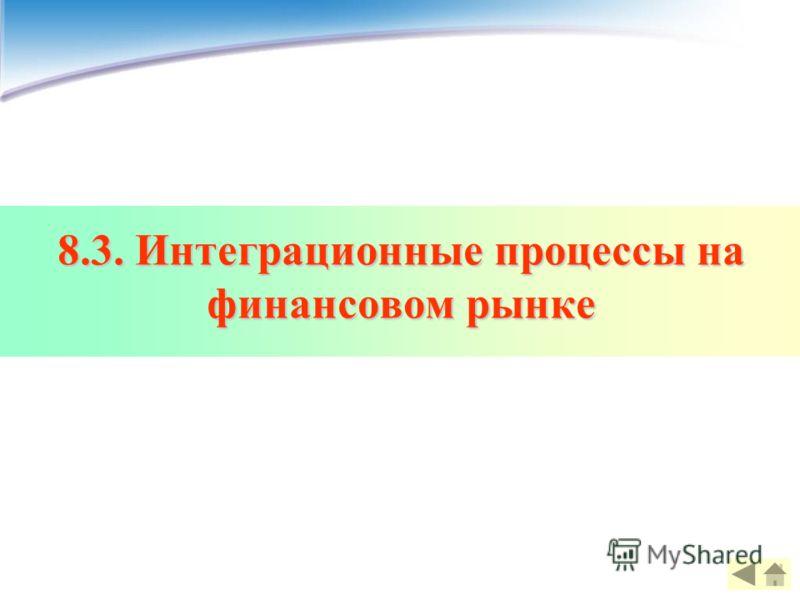 8.3. Интеграционные процессы на финансовом рынке