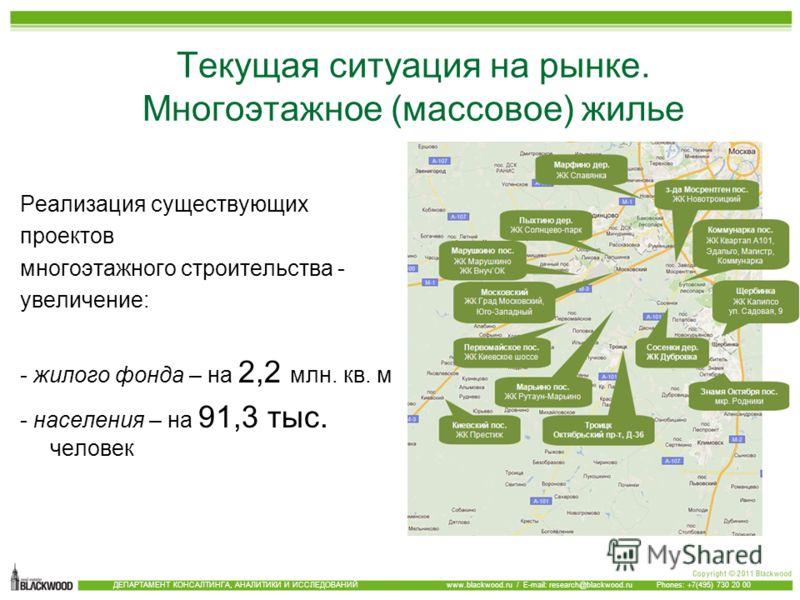 1 квартал 2008 Аренда бизнес центров, особняков, административных зданий и офисных блоков ДЕПАРТАМЕНТ КОНСАЛТИНГА, АНАЛИТИКИ И ИССЛЕДОВАНИЙ www.blackwood.ru / E-mail: research@blackwood.ru Phones: +7(495) 730 20 00 Текущая ситуация на рынке. Многоэта