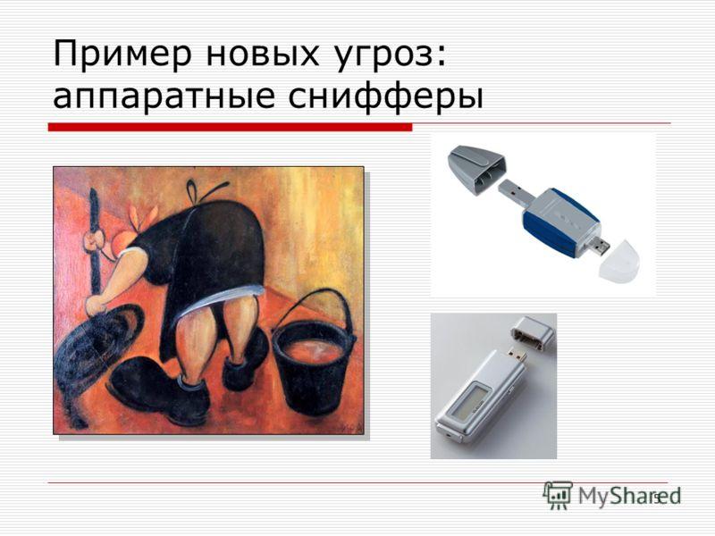 5 Пример новых угроз: аппаратные снифферы