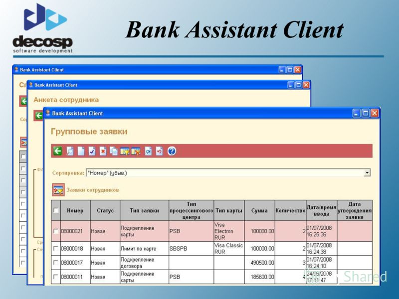 Bank Assistant Client