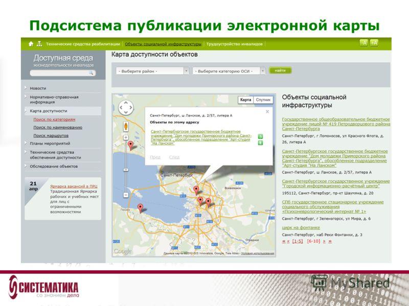 Подсистема публикации электронной карты