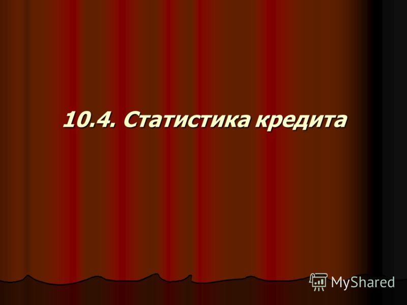 10.4. Статистика кредита