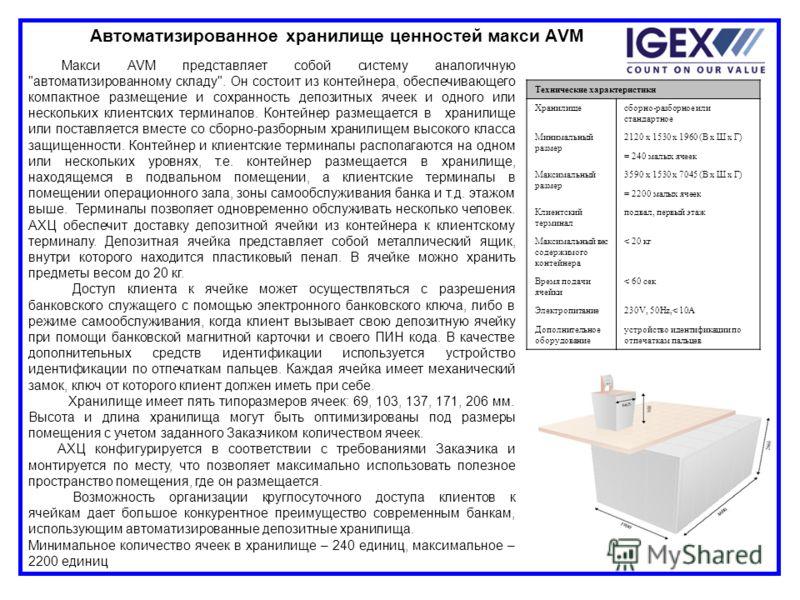 Макси AVM представляет собой систему аналогичную