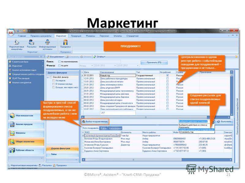 Маркетинг ©BMicro®, Axistem® -