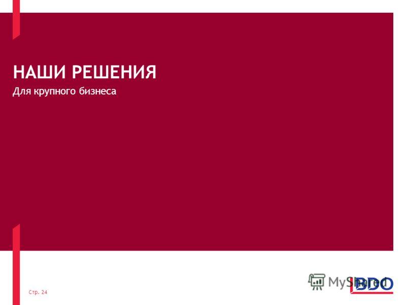 НАШИ РЕШЕНИЯ Для крупного бизнеса Стр. 24