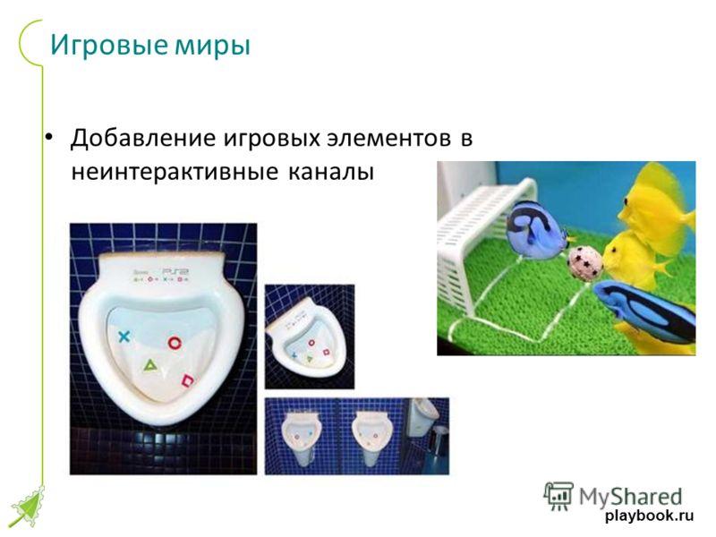 playbook.ru Игровые миры Добавление игровых элементов в неинтерактивные каналы