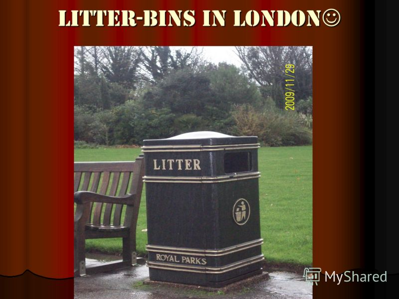Litter-bins in London Litter-bins in London