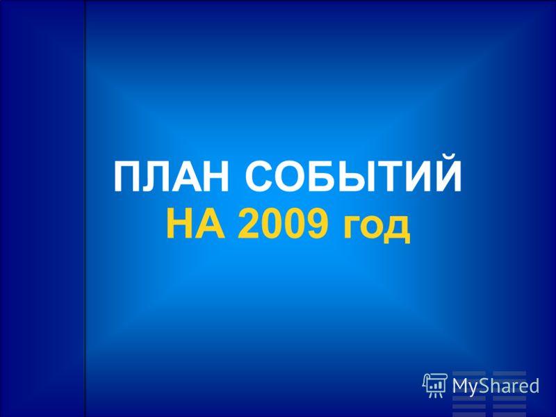 ПЛАН СОБЫТИЙ НА 2009 год