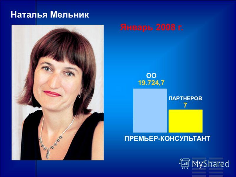 Наталья Мельник Январь 2008 г. ПАРТНЕРОВ 7 ОО 19.724,7 ПРЕМЬЕР-КОНСУЛЬТАНТ