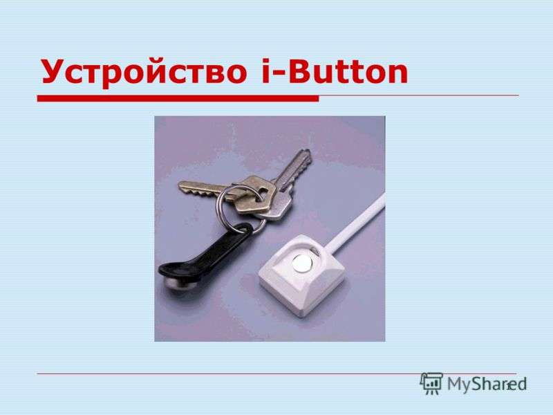 1 Устройство i-Button