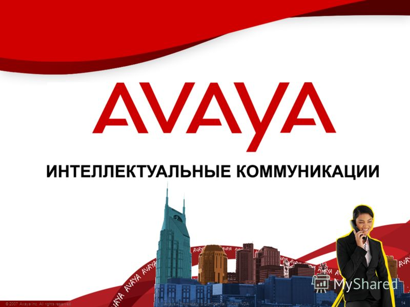 14 © 2007 Avaya Inc. All rights reserved. Avaya – Proprietary & Confidential. Under NDA 14 © 2007 Avaya Inc. All rights reserved. Avaya – Proprietary & Confidential. Under NDA