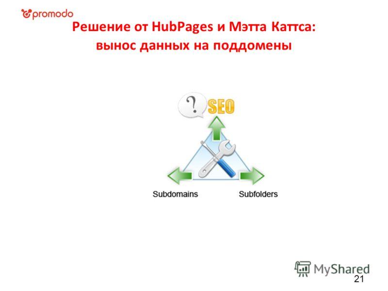 Решение от HubPages и Мэтта Каттса: вынос данных на поддомены 21