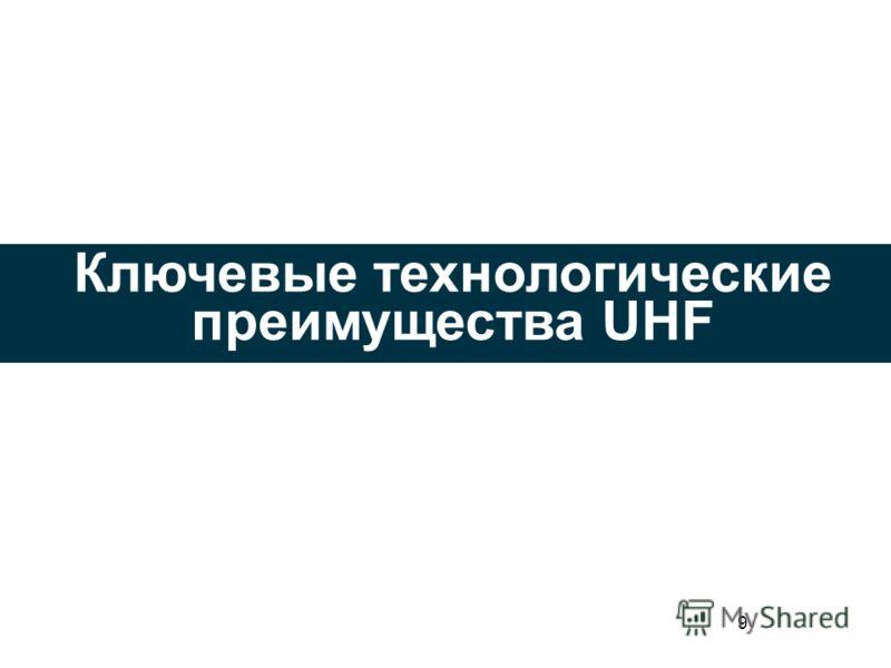 9 Ключевые технологические преимущества UHF