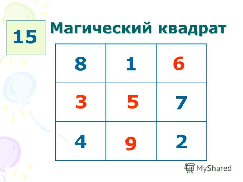 Магический квадрат 81 7 42 35 9 6 15
