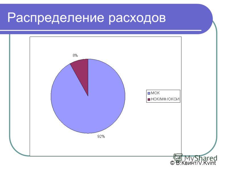 Распределение расходов © В.Квинт/V.Kvint