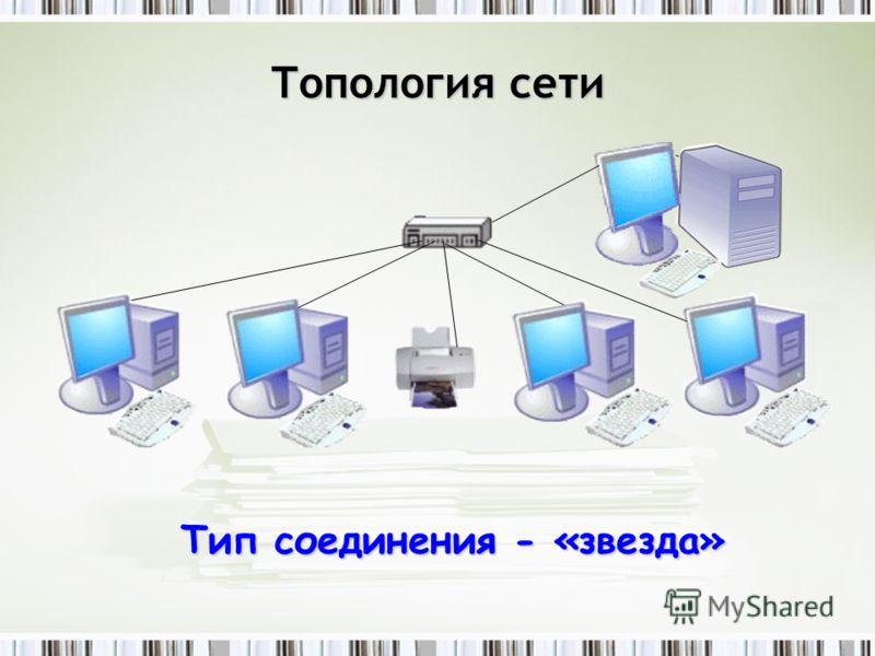 Топология сети Тип соединения - «звезда»