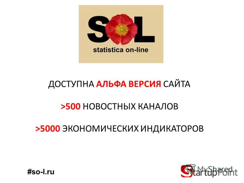 ДОСТУПНА АЛЬФА ВЕРСИЯ САЙТА >500 НОВОСТНЫХ КАНАЛОВ >5000 ЭКОНОМИЧЕСКИХ ИНДИКАТОРОВ #so-l.ru