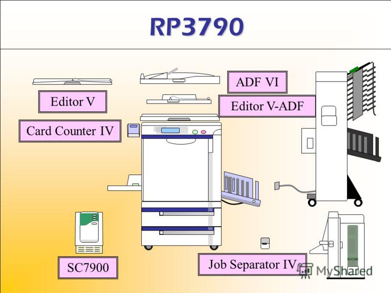 RP3790 Editor V ADF VI Editor V-ADF Job Separator IV SC7900 Card Counter IV