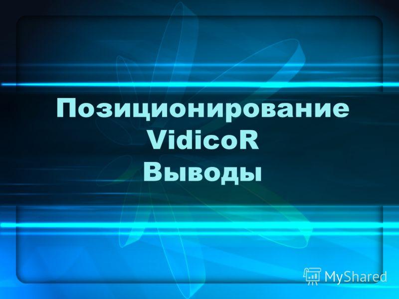 Позиционирование VidicoR Выводы