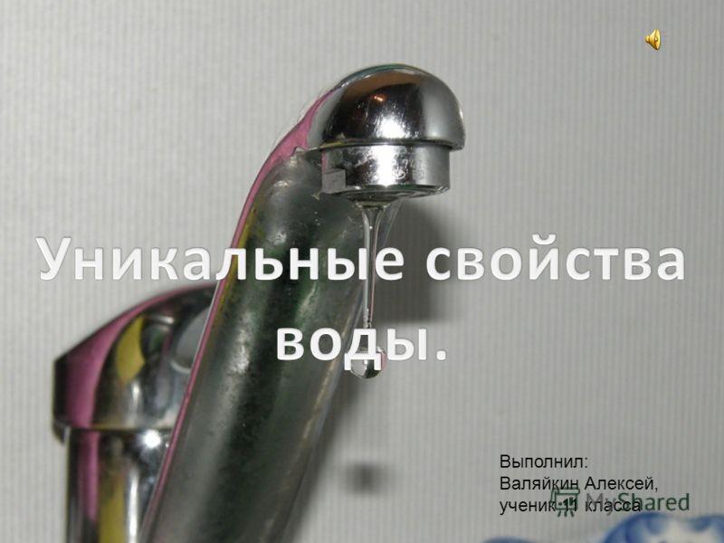 Выполнил: Валяйкин Алексей, ученик 11 класса
