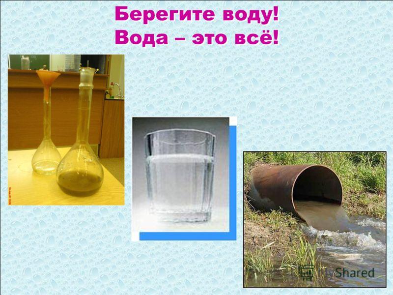 Берегите воду! Вода – это всё!