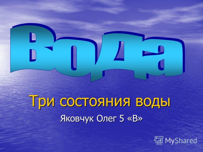 Три состояния воды Яковчук Олег 5 «В»