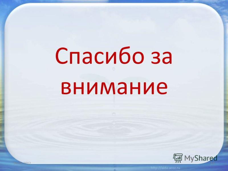 Спасибо за внимание 04.09.201219