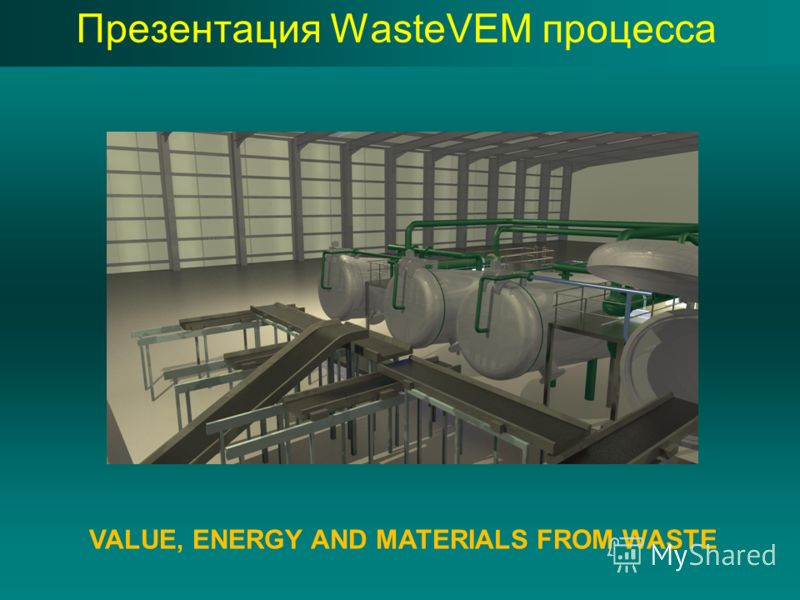 Презентация WasteVEM процесса VALUE, ENERGY AND MATERIALS FROM WASTE
