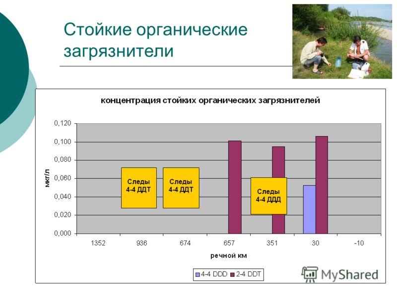 Стойкие органические загрязнители Следы 4-4 ДДТ Следы 4-4 ДДД