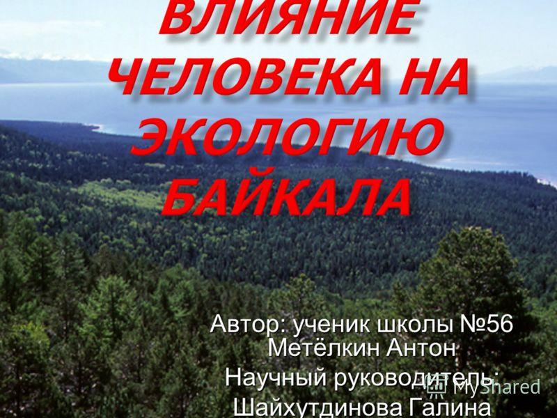 Автор: ученик школы 56 Метёлкин Антон Научный руководитель: Шайхутдинова Галина Николаевна