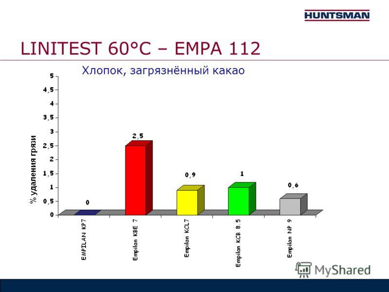 LINITEST 60°C – EMPA 112 Хлопок, загрязнённый какао