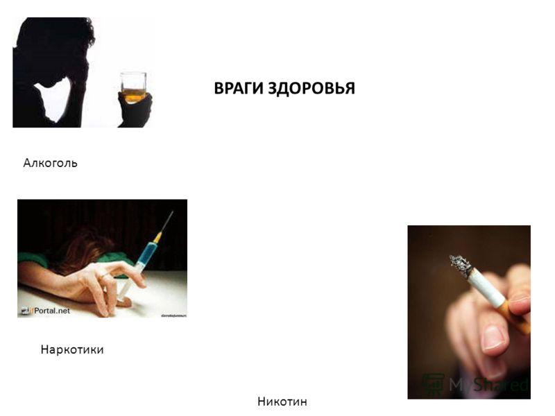 Алкоголь Никотин Наркотики ВРАГИ ЗДОРОВЬЯ