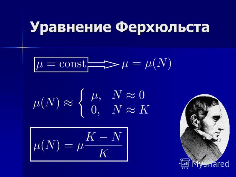 Уравнение Ферхюльста