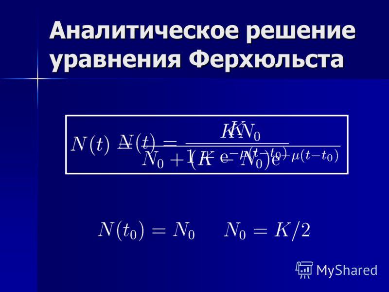 Аналитическое решение уравнения Ферхюльста
