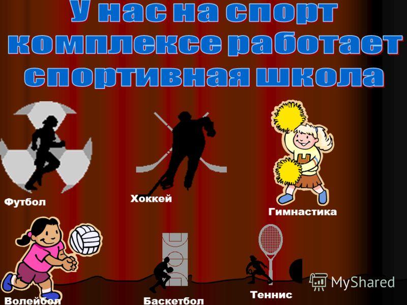 Футбол Хоккей Гимнастика ВолейболБаскетбол Теннис