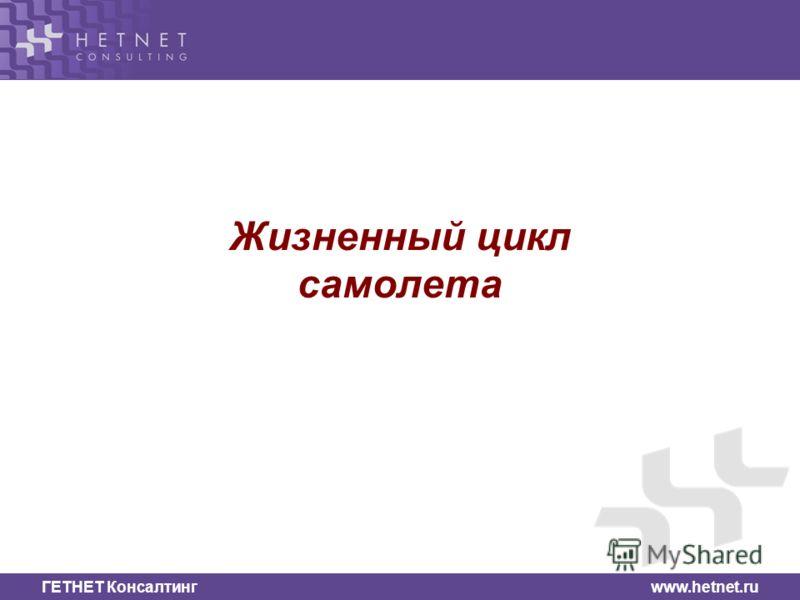 ГЕТНЕТ Консалтинг www.hetnet.ru Жизненный цикл самолета