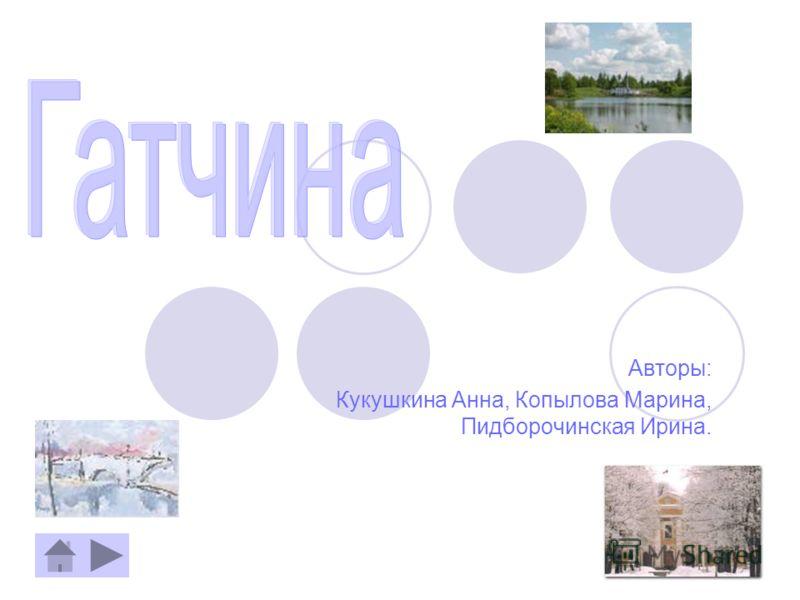 Авторы: Кукушкина Анна, Копылова Марина, Пидборочинская Ирина.