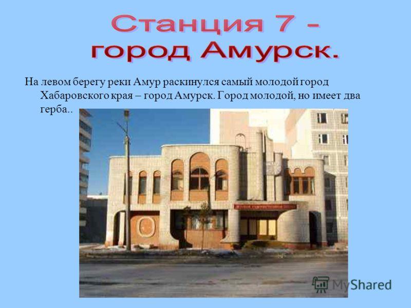На левом берегу реки Амур раскинулся самый молодой город Хабаровского края – город Амурск. Город молодой, но имеет два герба..