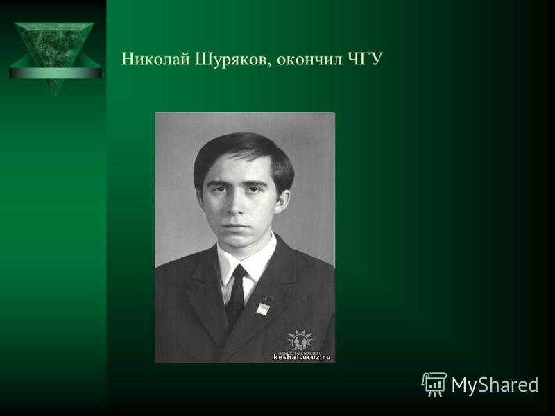 Николай Шуряков, окончил ЧГУ