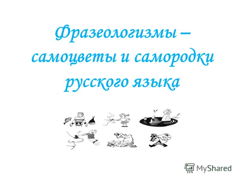 Фразеологизмы – самоцветы и самородки русского языка