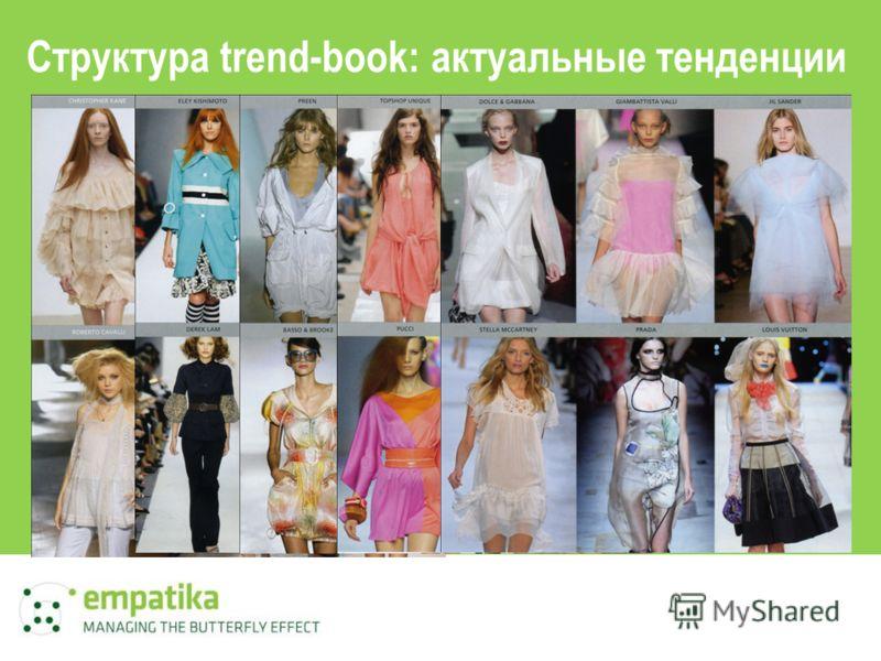 Структура trend-book: актуальные тенденции