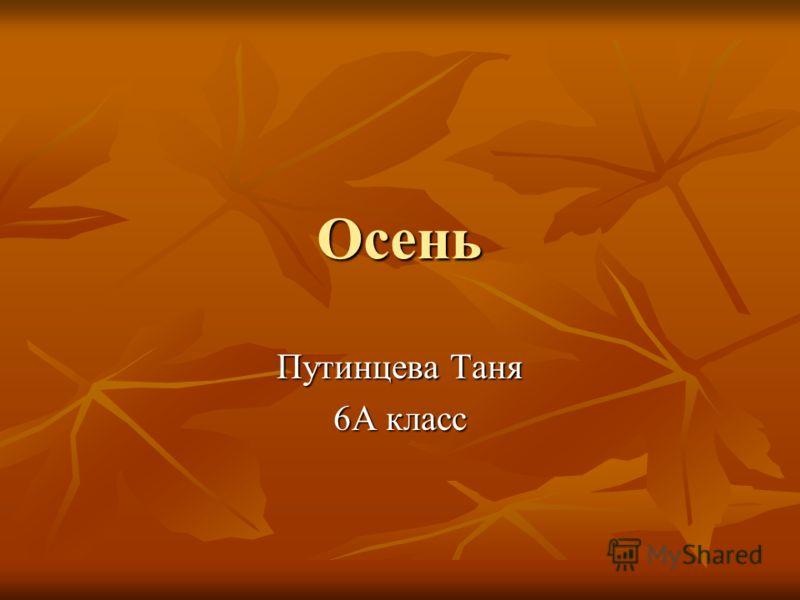 Осень Путинцева Таня 6А класс
