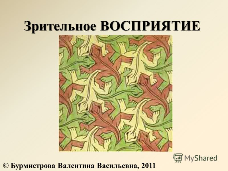 Зрительное ВОСПРИЯТИЕ © Бурмистрова Валентина Васильевна, 2011